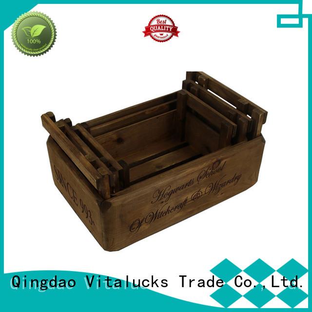 Vitalucks decorative wooden crates popular