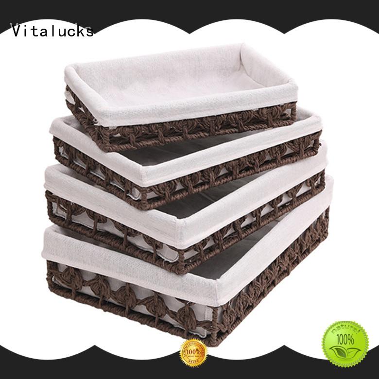 wholesale decorative storage baskets quality assured production