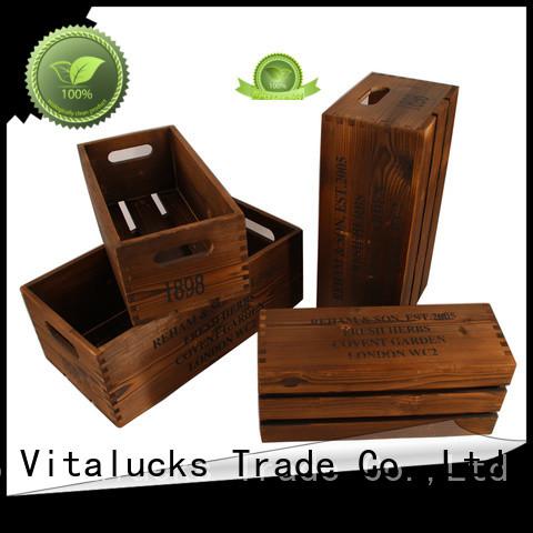 Vitalucks unique design wooden gift boxes wholesale at discount