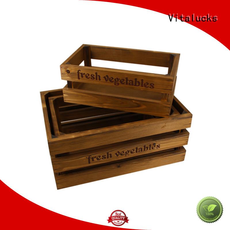 Vitalucks wooden crate box popular